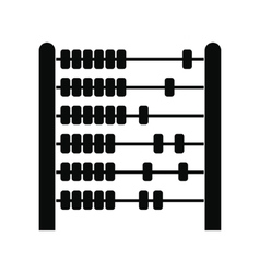 Children abacus black simple icon vector