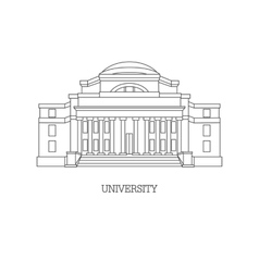 classical university vector image vector image