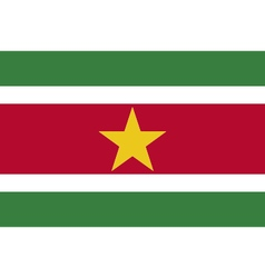Colored flag of suriname vector