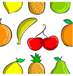 Colorful fruit pattern collection style vector
