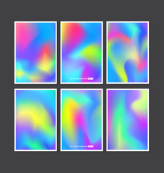 colourful backgrounds set mesh template vector image