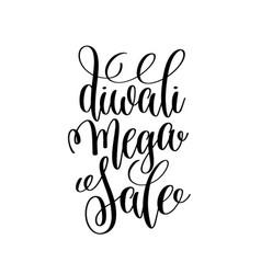 diwali mega sale black calligraphy hand lettering vector image vector image