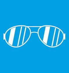 Glasses icon white vector