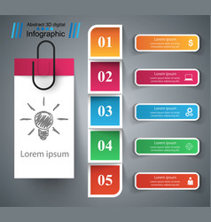 infographic design bulb light icon vector image vector image