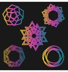 magic background celtic knot shape signs - vector image