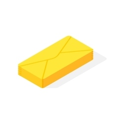 Mail isometric icon vector image