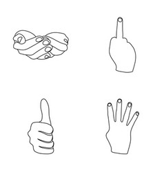 Palms together big up nameless hand gestures vector
