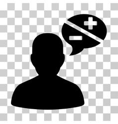 Person arguments icon vector