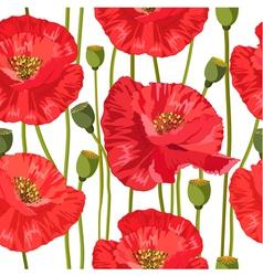 poppy seamless vector image