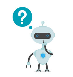 robot man thinking flat cartoon vector image