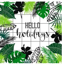 summer tropical design template design vector image