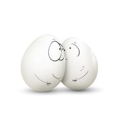 Sweet couple egg vector image vector image