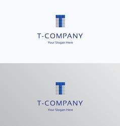 T-brand letter module grid logo vector