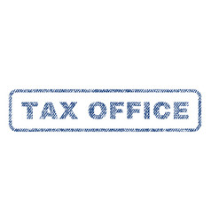 Tax office textile stamp vector