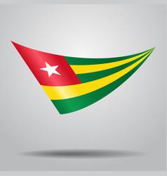 togolese flag background vector image