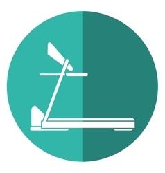 Treadmill machine sport fitness shadow vector
