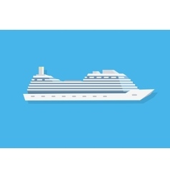 White Cruise Boat vector image