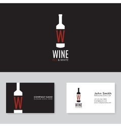 Wine logo template vector image vector image