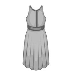 Womens dress icon black monochrome style vector image vector image