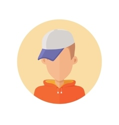 Young Man Avatar without Facial Features vector image