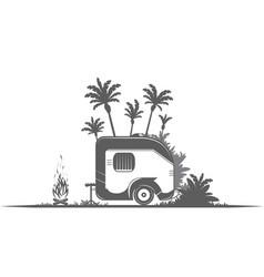 vintage camping trailer vector image