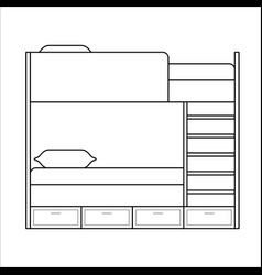 Home furniture lineart design interior concept vector