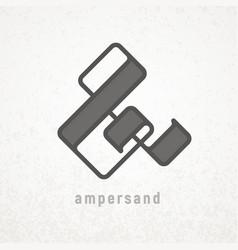 Ampersand elegant symbol on grunge vector