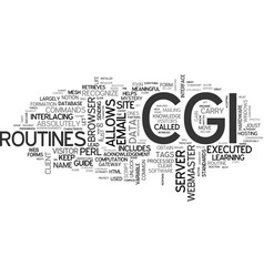 What is cgi that the heck text word cloud concept vector