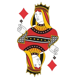 Queen of diamonds no card vector