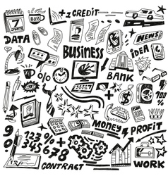 Business - doodles set vector