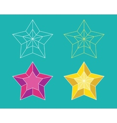 Star pictogram vector