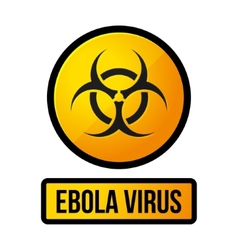 Ebola yellow danger sign vector