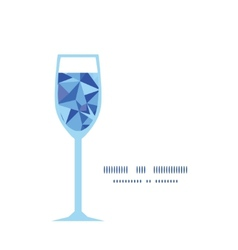 Blue triangle texture wine glass silhouette vector