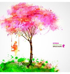 Artistic tree design vector