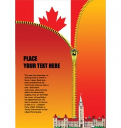 Canadian zipper vector