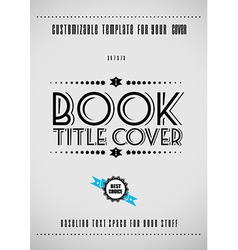 Minimal modern book cover template vector