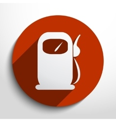 Fuel station web icon vector