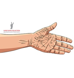 Hand prepared for handshake detailed vector