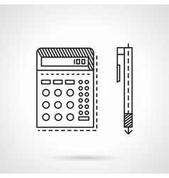 Accounting flat line icon vector