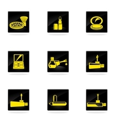 Make-up icons set vector