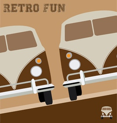 Retro fun design vector