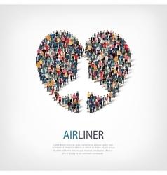 Airplane people symbol vector