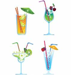 cocktails vector image