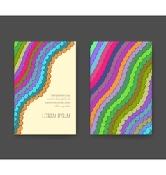Business card with vivid lines flyer layout vector