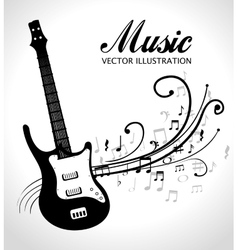 Electric guitar isolated icon design vector