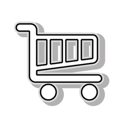 Shopping cart icon graphic vector