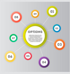 abstract infographics number options template vector image vector image