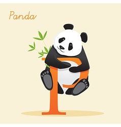 Animal alphabet with panda vector image vector image