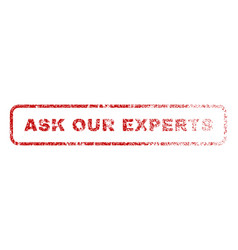 Ask our experts rubber stamp vector
