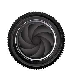 black camera lens close icon vector image